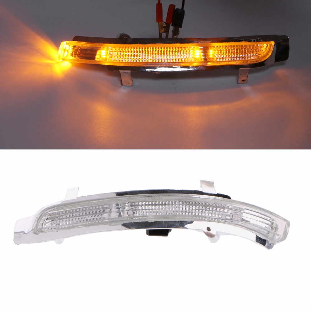 HNGCHOIGE 1Pc Car Amber Light Left/Right Swing Mirror Indicator Turn Signal Rearview Light Lamp For Skoda Octavia Superb