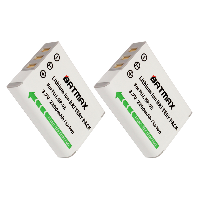 2PCS NP-95 Batería para Fujifilm FinePix Fuji X100T X100 XS1 X100S F30 F31fd