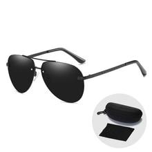 цены на Vintage Men Pilot/Aviation Polarized Driving Sunglasses Shade for Women New Arrival 2019 Fashion Designer Sun Glasses with Case  в интернет-магазинах