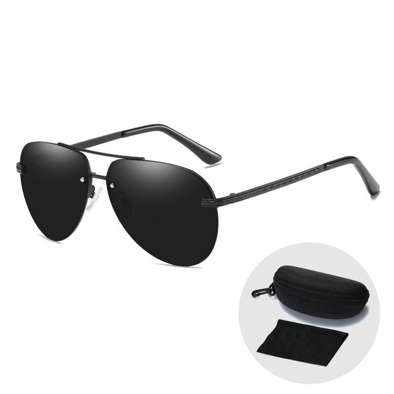 Vintage hommes pilote/Aviation polarisé conduite lunettes de soleil ombre pour femmes nouveauté 2019 créateur de mode lunettes de soleil avec étui