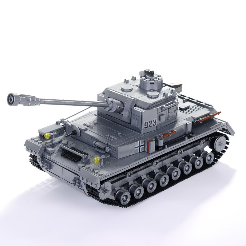 KAZI 1193pcs Building Blocks Military Army Tank Model Soldiers Grey Bricks Tank