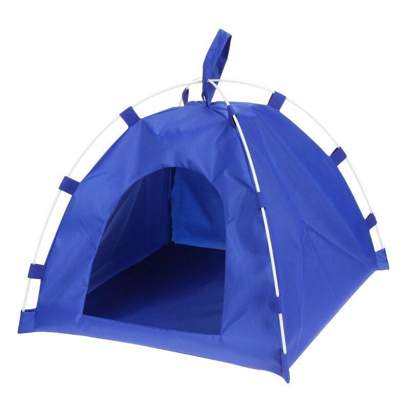 2019 Pet Tent Oxford Cloth Dog Cat Detachable Fiber Rod Folding Sleeping Bed Mat Puppy Kitten Outdoor Travel Supplies