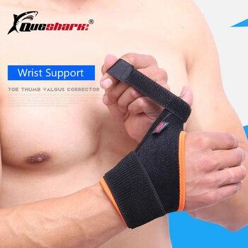 QUESHARK 1 Stuk Elastische Bandage Polssteun Duim Hand Brace Vinger Spalk Tennis Gewichtheffen Pols Bescherming