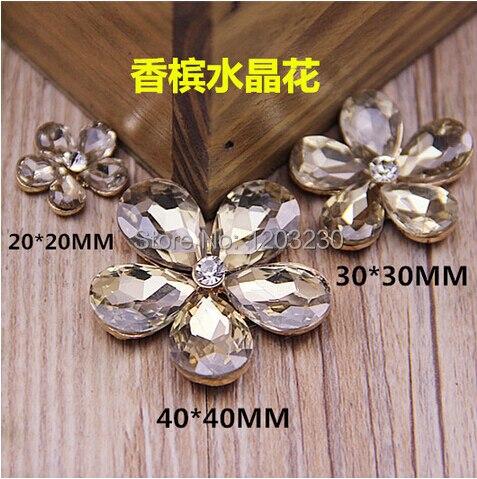 Material de decoração Diy liga banhado a ouro champagne strass margarida  flores encantos Diy hairband   acessórios 7255bbd188c