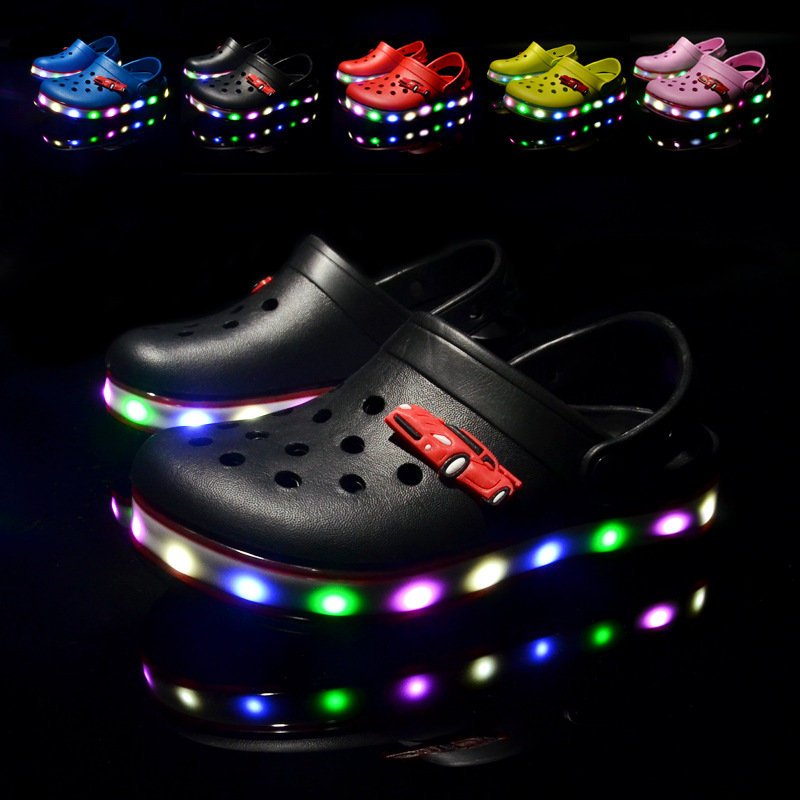 2021 New Kids Sandals Summer Shoes for Girls LED Beach Sandals EVA Shoes for Boys Sandals Children Shoes Flat Sandals 2