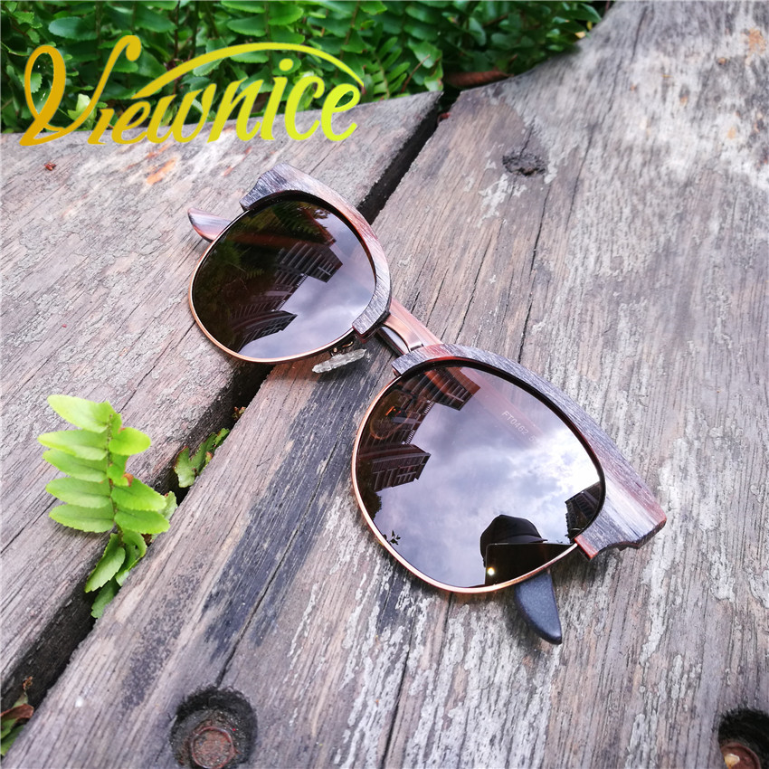 Viewnice New Fashion Cat Eye Vintage Polaroid Mirror sunglasses Womens Sunglasses Metal oculos de sol unisex UV400 Google V0462