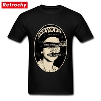 Latest Band Mens Sex Pistols T Shirt God Save The Queen Tee 80s Style Streetwear Cotton