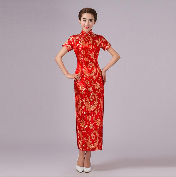 Aliexpress Buy New Arrival Red Womens Long Slim Qipao Vintage
