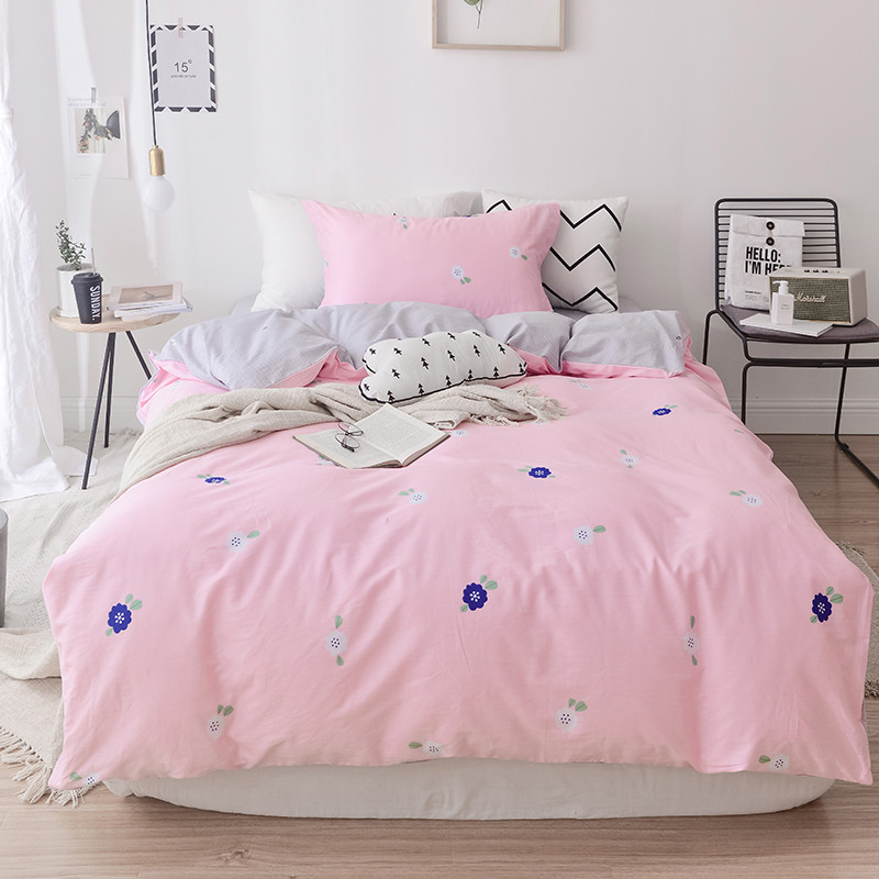 Modern Style Bedding Set Full Size Cotton Flower Bed Linen 3pcs/Set Duvet Cover Set Pastoral Bed Sheet AB Side Duvet Cover 2019 Modern Style Bedding Set Full Size Cotton Flower Bed Linen 3pcs/Set Duvet Cover Set Pastoral Bed Sheet AB Side Duvet Cover 2019