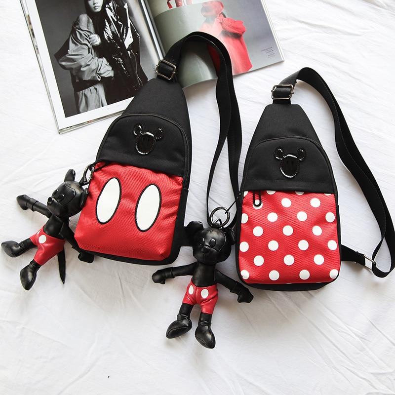 Plush Children Mickey Small Boys  Plush Bag  Leisure Primary School Tide Outdoor Female Cute Cartoon Bag