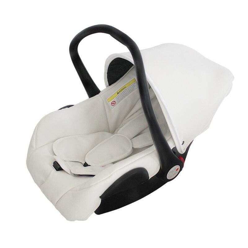Haute qualité nouveau-né PU cuir Portable main panier étanche ceinture réglable infantile coffre-fort siège enfant voiture bébé sommeil panier