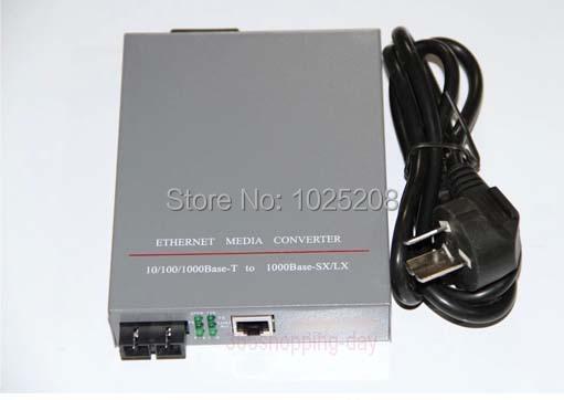 De Fibra óptica Media Converter HTB-GS-03 RJ45 10/100/1000 Mbps Puerto SC monomodo 25 KM