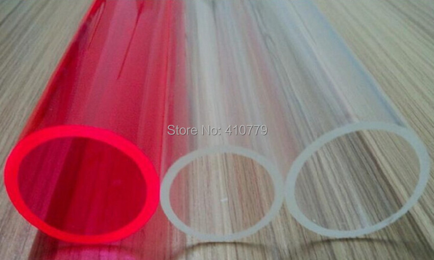 2 шт. акриловые трубы OD1000x10x1000mm поставки литье большой прозрачный трубы пластиковые PMMA украшения здания и аквариум