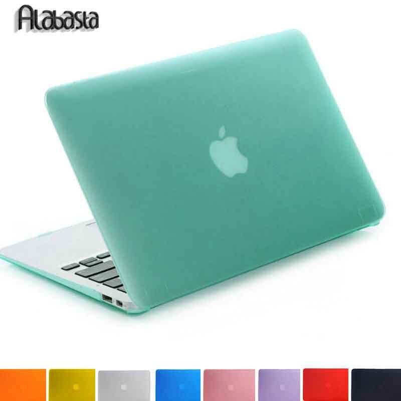 цена на Alabasta Matte Rubberized Hard Case Cover For Macbook Pro 13 15 Pro Retina 12 13 15 Macbook Air 11 13 A1706 A1708 Laptop Shell