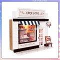 13504 Hot DIY Bolo Amor loja loja de comida casa de bonecas em miniatura casa de boneca brinquedos frete grátis