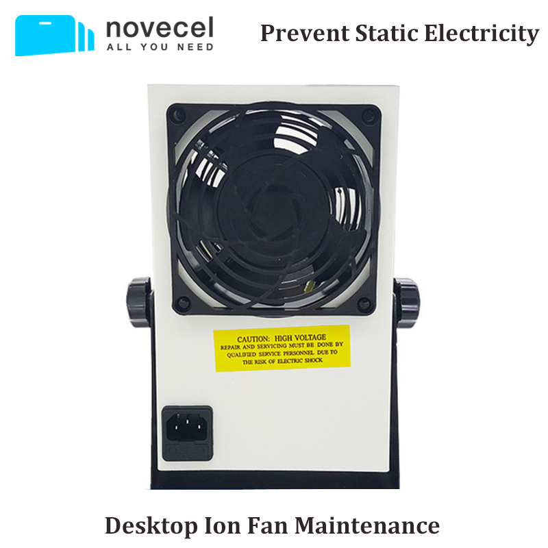NOVECEL Desktop Ion Fan Maintenance Dedicated Fan Ionizing Air Blower with UK Plug Cable