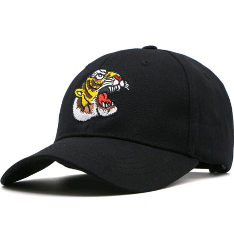 2017 New Embroidered Baseball Cap men Cartoon Tiger hat Casual unisex hat for women snapback gorras dad hat casqutte bone Animal 2016 new new embroidered hold onto your friends casquette polos baseball cap strapback black white pink for men women cap