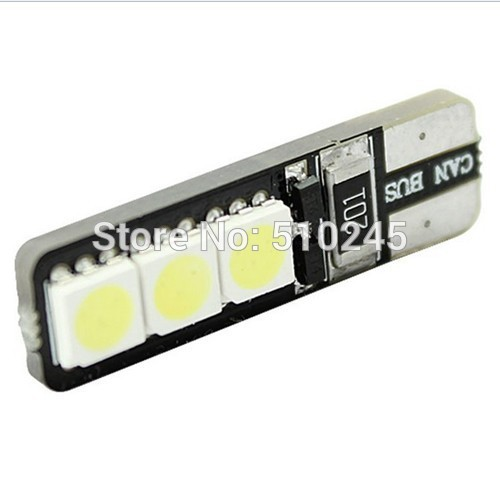 30X Canbus No Error Free T10 194 168 W5W 5050 6 LED SMD White DC12V auto Car Side Wedge Light Lamp Bulb free shipping