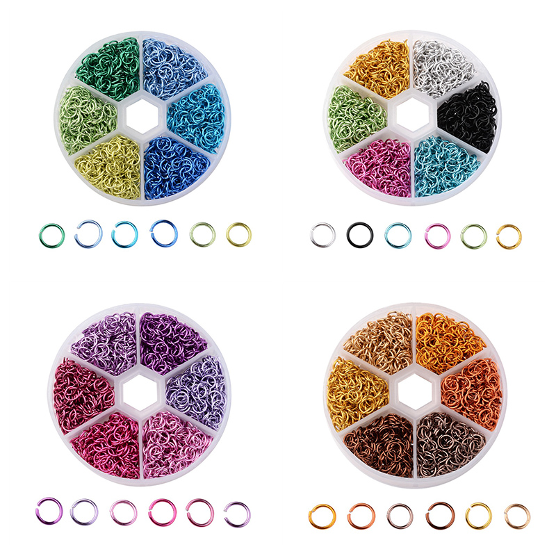 6 Colors Aluminum Wire Open Jump Rings Split Rings Jewelry Findings ...