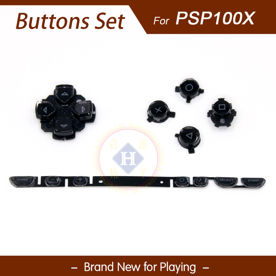 HOTHINK Black Replacement Left Right Keypad Button Set For PSP 1000 / PSP 100X 1001 1004 1008 1007 Console