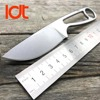 LDT Ant IZULA Fixed Blade Knife Rowen D2 Blade Steel Handle Tactical Knife Camping Hunting Survival