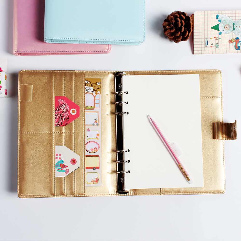где купить Macaron cute office school leather spiral notebook stationery,6 holes binder person agenda organizer/daily weekly WJ-XXWJ395- по лучшей цене