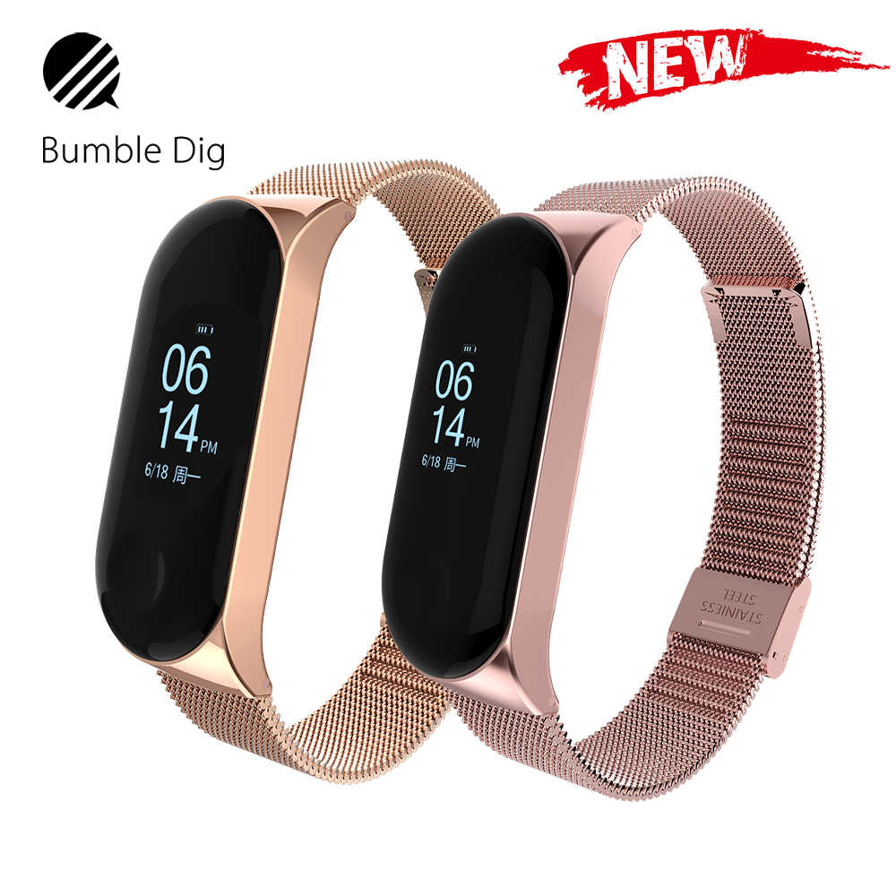 Mi Band 3 Strap Metal Screwless Stainless Steel For Xiaomi Mi Band 3 Strap Bracelet Miband 3 Wristbands Pulseira Miband3