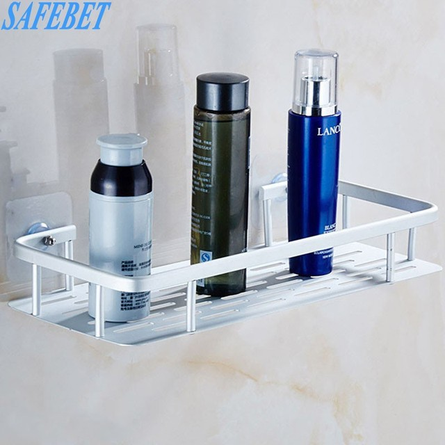 SAFEBET Brand Space aluminum Strong Suction Shower Storage Rack ...