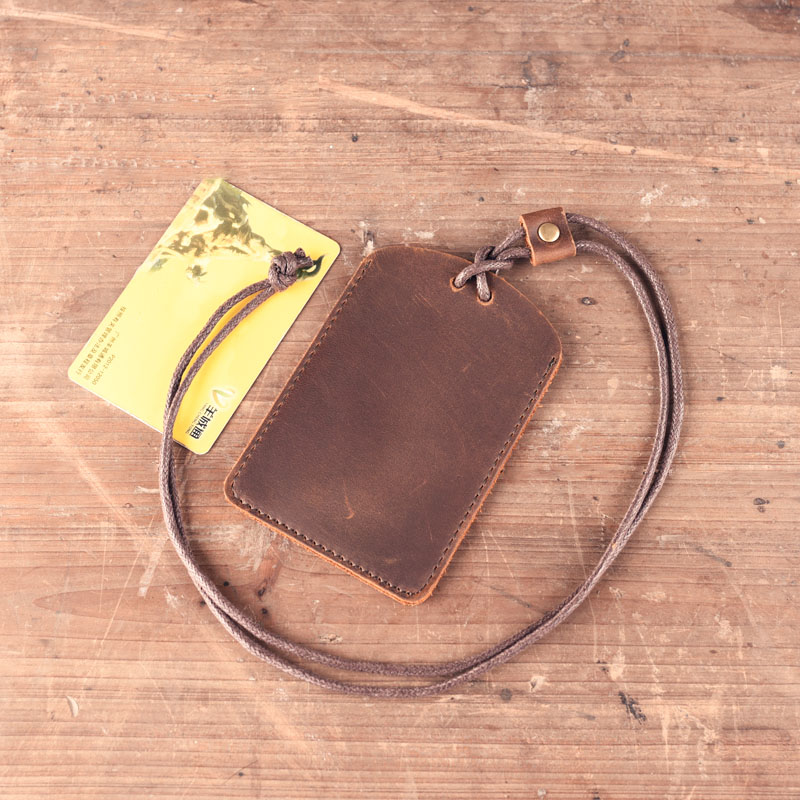 1PCS Genuine Leather Card Case Holder Bank Credit Card Holders Card Bus ID Holders Identity Badge Holder KT01