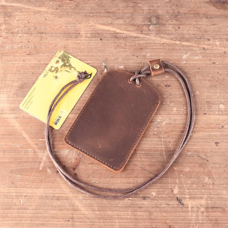 1PCS Genuine Leather Card Case Holder Bank Credit Card Holders Card Bus ID Holders Identity Badge Holder KT01