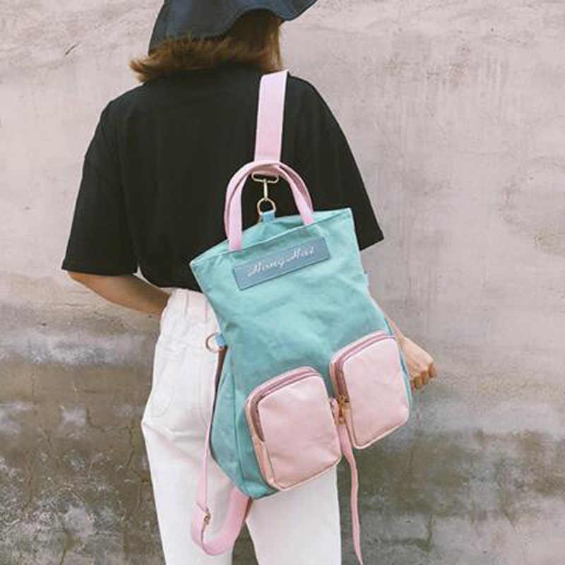 Новые студенческие сумки для девочек женские рюкзаки большой емкости сумка для ноутбука школьные сумки холщовые рюкзаки для отдыха дорожная сумка Mochila