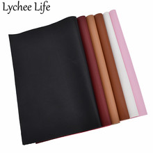 Lychee Life A4 Soft Smooth Faux Leather Fabric Solid Color 29x21cm PU DIY Handmade Sewing Clothes Decorative Supplies