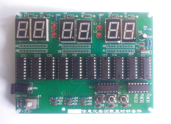 6 Bit Electronic Clocks, Pure Digital Clock, Digital Display Clock Production and Debugging, Electronic Competition at89c2051 digital led display 4 bits electronic clock electronic production suite diy kit