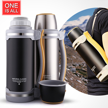 2000ML Stainless Steel Thermos Kettle Insulation Bottle Flask Large Capacity Heat Water Bottle Pot Outdoor Travel Water Kettle