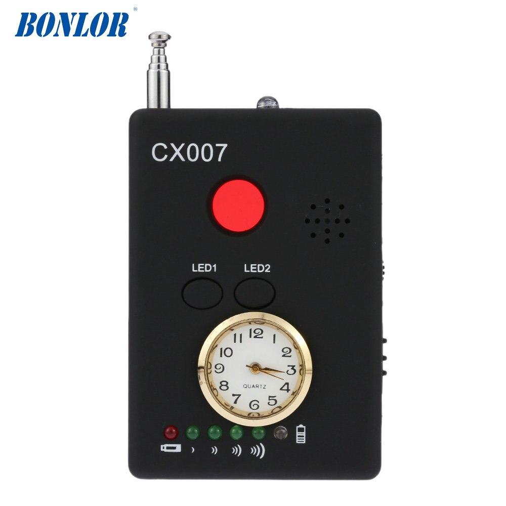 Бесплатная доставка bonlor CX007 Беспроводной ФНР Полная частота детектора GSM устройства Finder Cam лазерный объектив радиочастотного сигнала детек...