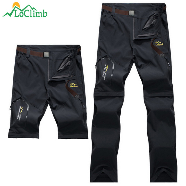 LoClimb Men Women Stretch Waterproof Camping Hiking Pants Outdoor Sport Trousers Trekking Mountain Climbing Fishing Pants,AM051 5