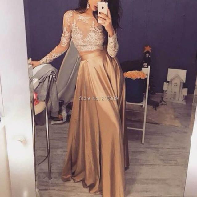 Kleider lang gold