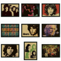 Las Puertas Jim Morrison Vintage Retro rock band music Guitar Mate Papel Kraft Cartel Etiqueta de La Pared Home Decora