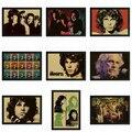 The Doors Jim Morrison Vintage Retro rock band music Guitar Matte Kraft Paper Poster Wall Sticker Home Decora