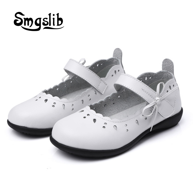 Girl shoes Kids Genuine leather shoes Princess dance party children school toddler Solid High-quality flat Cow Muscle loafers