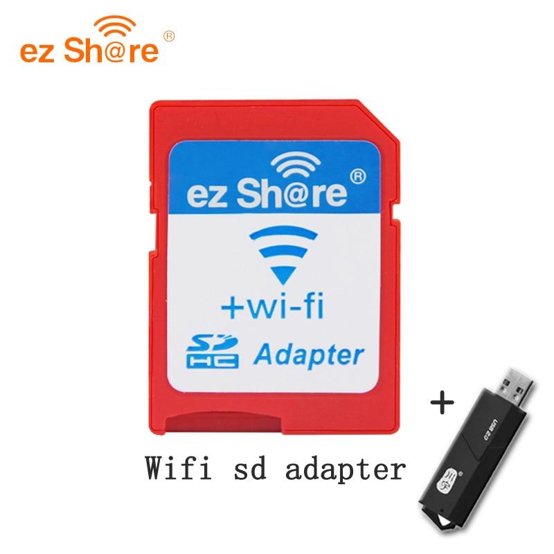 Ez compartir tarjeta Sd wifi adaptador class10 sdhc inalámbrico para Micro Sd lector de tarjetas de memoria flash para canon/ nikon/sony DSLR