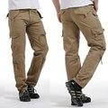 Nuevo Estilo de Algodón de Los Hombres de Alta Calidad de Carga Pantalones Casuales Masculinos Múltiples Bolsillos Monos Sueltos Pantalones Largos Más El tamaño 6 Color