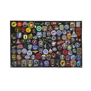 Image 2 - Patch stockage panneau daffichage militaire Collection brassard finition tissu Badge affiche armure fond bricolage Nylon tenture murale