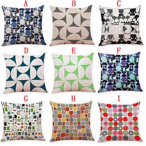 Image 3 - Renkli desen yastık kılıfı kapak süper yumuşak kumaş ev yastık basit geometrik atmak yatak yastık kılıfı yastık kapakları