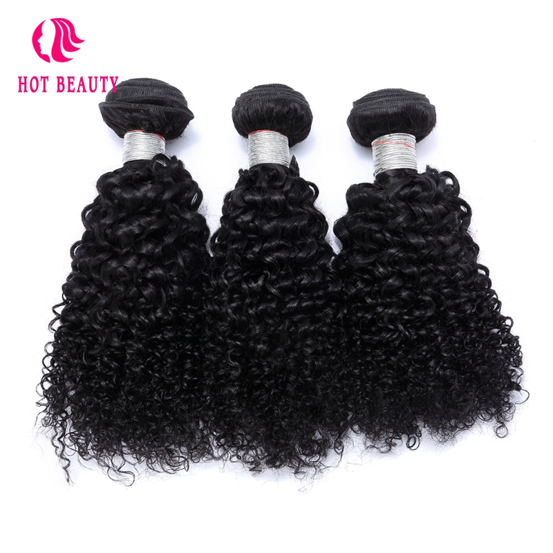 Hot Beauty Hair 3 Bundles Deal Kinky Curly Peruvian Remy Hair Human Hair 10 28 Inch