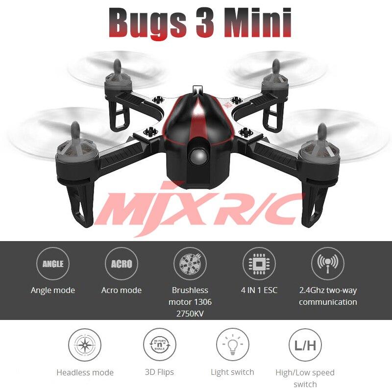 MJX BUGS 3 Mini RC Drones UAV con cámara HD 5.8G VR WIFI Quadcopters - Juguetes con control remoto