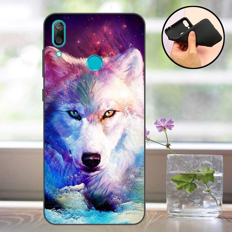 Black Case Huawei Y6 2019 Case Silicon Huawei Y6 Prime 2019 Phone Back Cover Huawei Y 6 Y6 2019 MRD-LX1 MRD-LX1F Case bumper