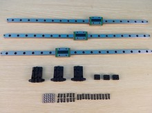 Micromake 3D Printer Parts 3pcs/lot Delta HIWIN Linear Rail 460mm Length with Slide Block High Quality
