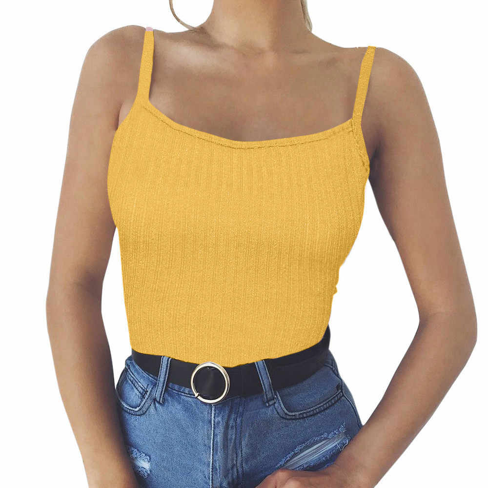 Women Tank Top Fashion Women Sexy Tank Top Vest Off Shoulder Halter Chalecos Mujer Colete #H10