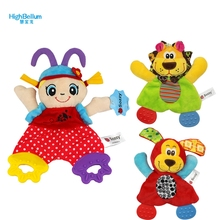 Hot New Baby Toys Soft Towel Handkerchief Sozzy Lion Dog Girl Teether Comfort Appease Playmate Plush Rattles Toy Newborn Babies